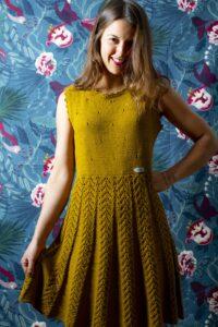 Kleid gestrickt handarbeit Somonco
