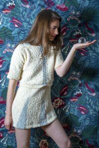 Kleid gestrickt Wolle Zürich