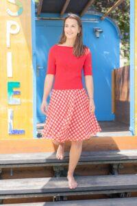 Rotes Sommerkleid, Fairfashion aus Zürich