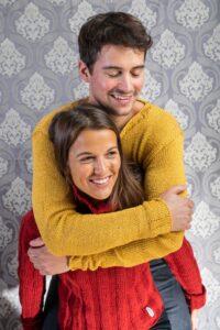 Handarbeit gestrickt Wolle Pullover